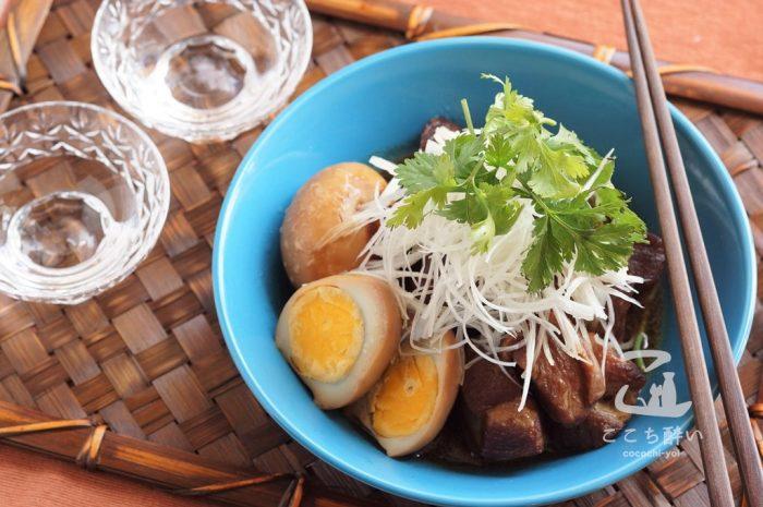 ベトナム風豚の角煮と日本酒