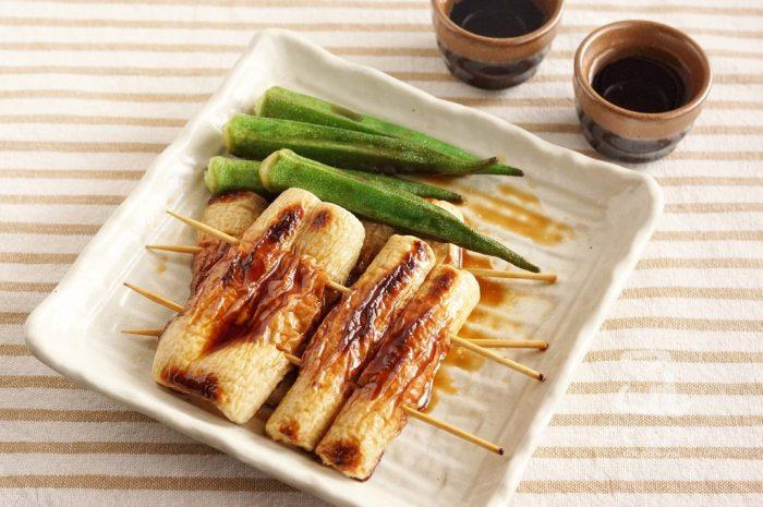 ちくわの蒲焼きと日本酒