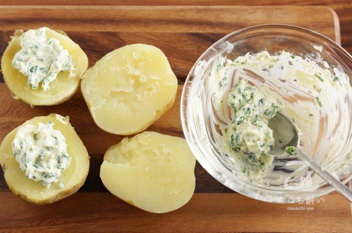 新じゃがのハーブチーズのせの作り方の手順3