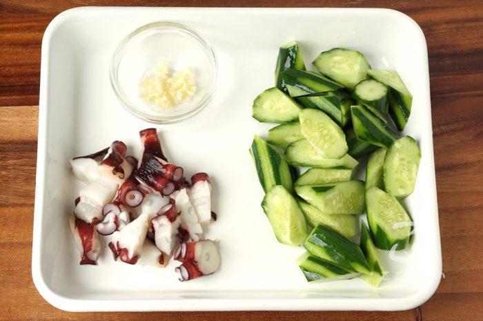 タコときゅうりの中華炒めの作り方の手順1