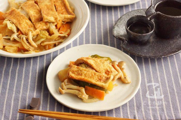 きつねのちゃんちゃん焼きと日本酒