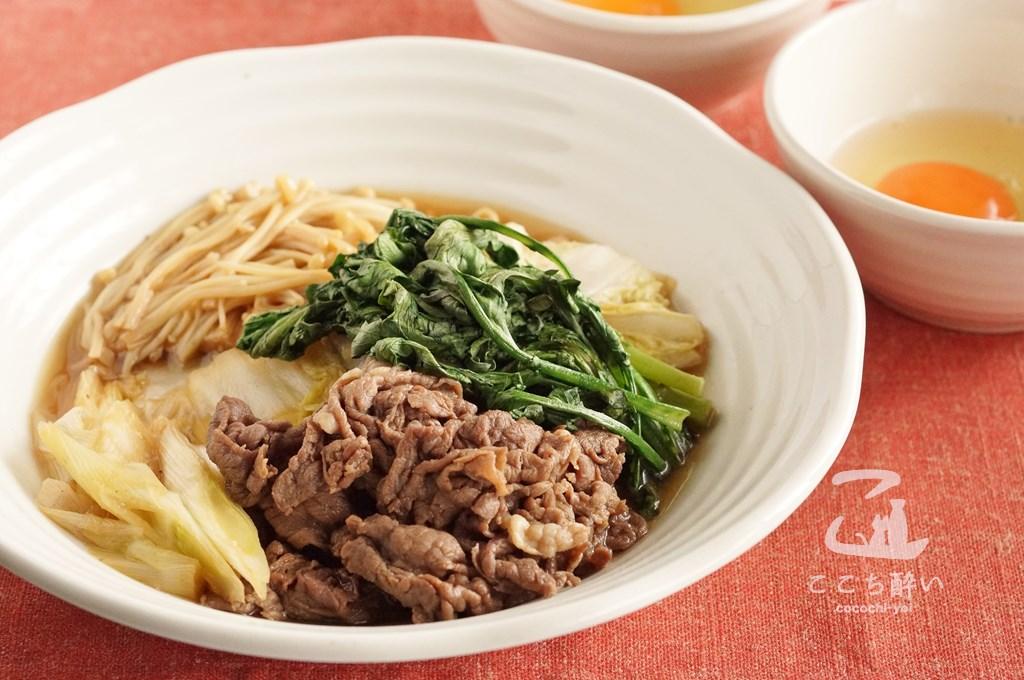 牛肉と冬野菜のすき煮
