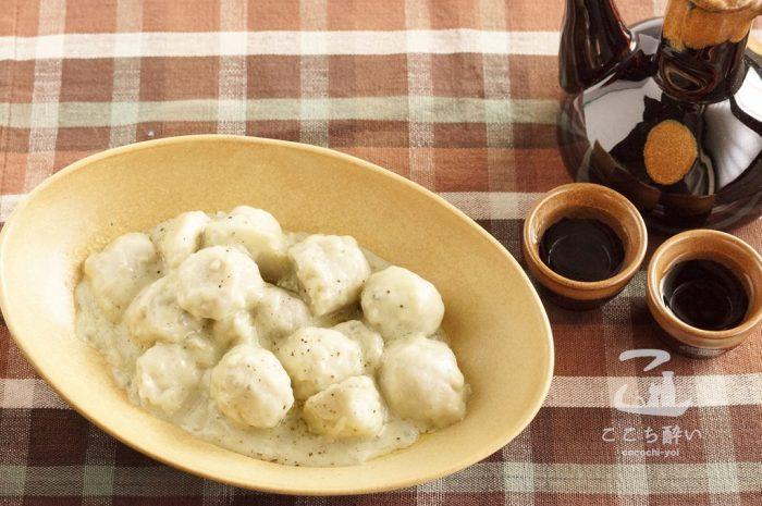 里芋のゴルゴンゾーラと日本酒