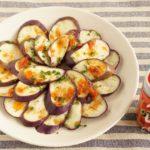 日本酒と相性抜群の調味料「かんずりと日本酒に合う簡単おつまみ「かんずりソースの茄子カルパッチョ」