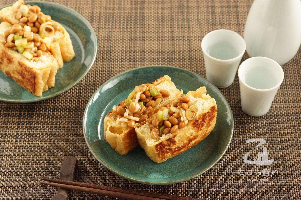 「栃尾のあぶらげの納豆詰め」のと日本酒