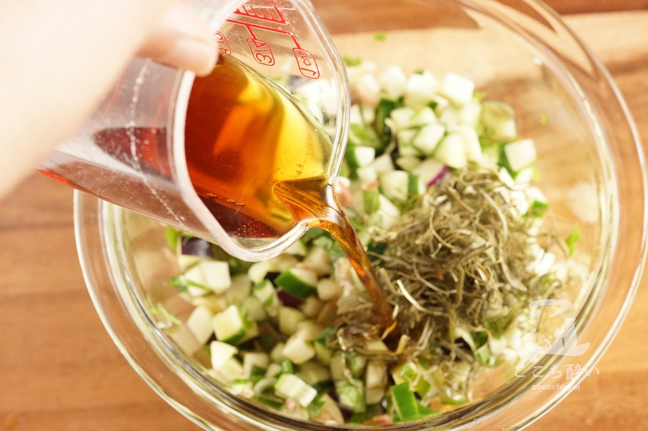 山形県の郷土料理「だし」の作り方の手順2
