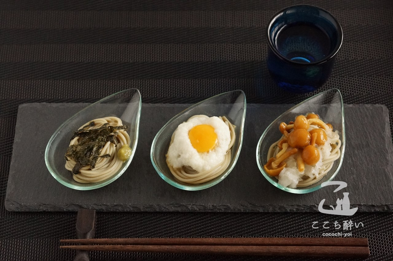 「へぎそば」で作るおつまみと日本酒