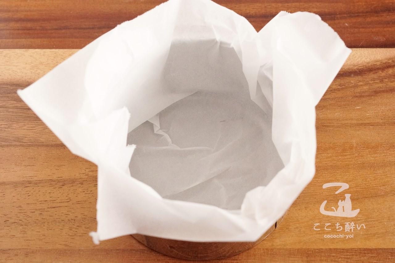 「バスク風チーズケーキ」の作り方の手順1