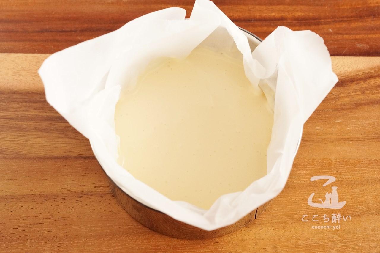 「バスク風チーズケーキ」の作り方の手順3